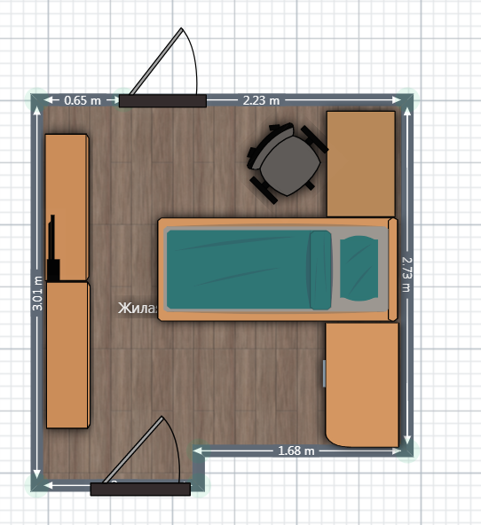 Спальня для студентки