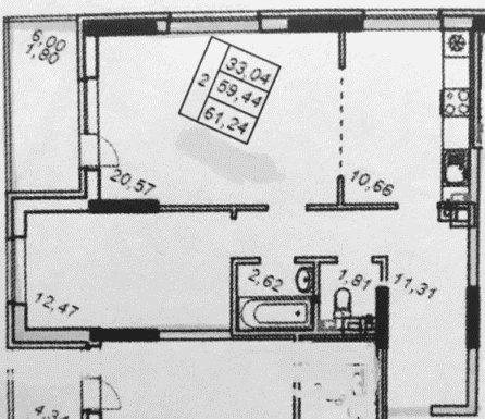 Двух-комнатная (варианты планировки)