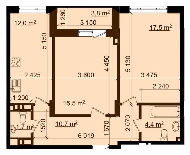 Кухня 2,4х5,1. Можно ли обойтись без верхних шкафов?
