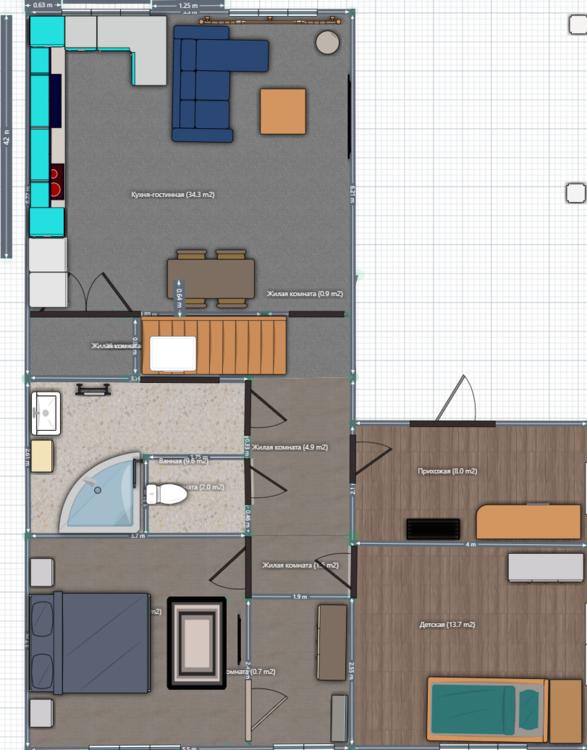 Кухня гостинная. Помогите с планировкой.