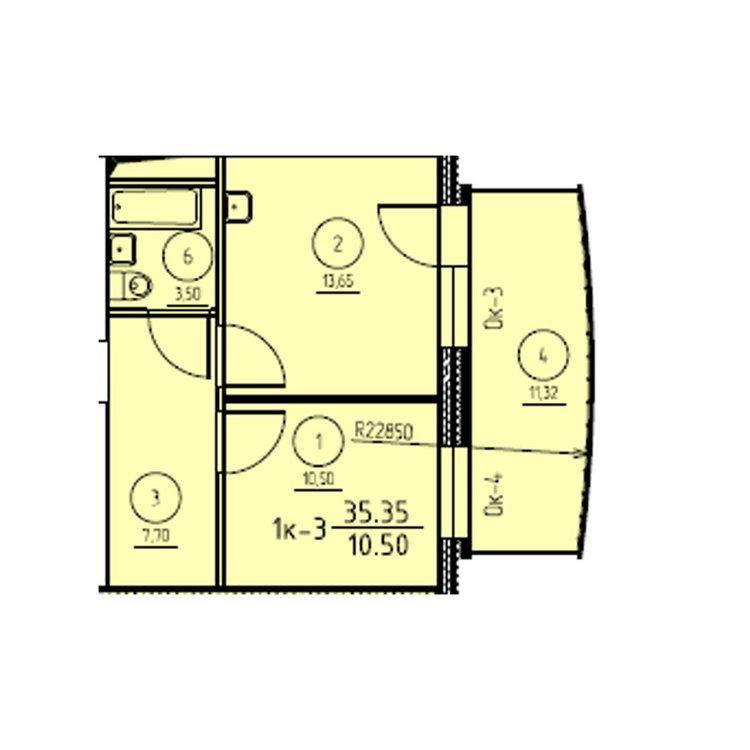 Помогите пожалуйста с диз.интер. квартиры 35кв.м