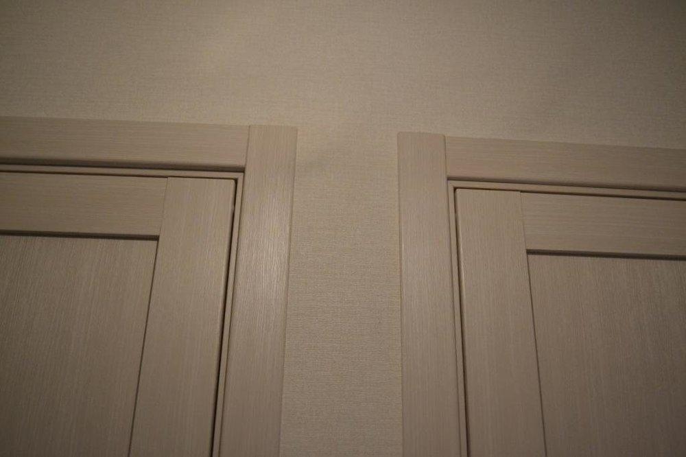 """Заплечики двери разной ширины - исправление косяков """"стротелей""""-2"""