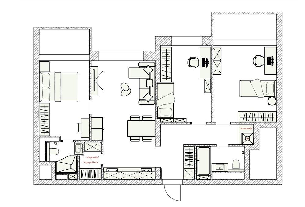 Перепланировка 3х комнатной квартиры: минусы и плюсы