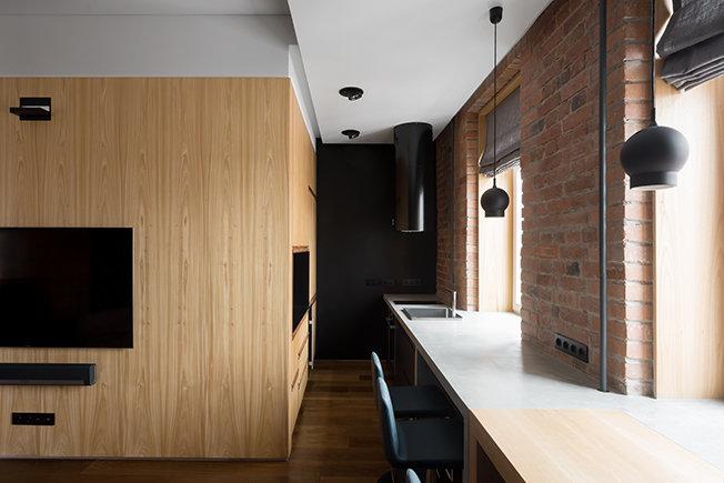 Планировка однокомнатной квартиры с полукруглой лоджией-3