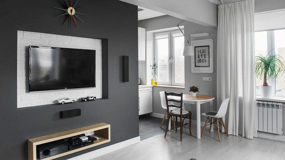 Планировка однокомнатной квартиры с полукруглой лоджией-2