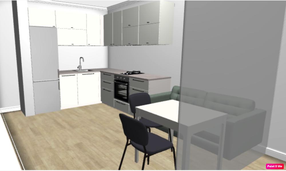 Помощь в планировке кухня+гостиная+спальня