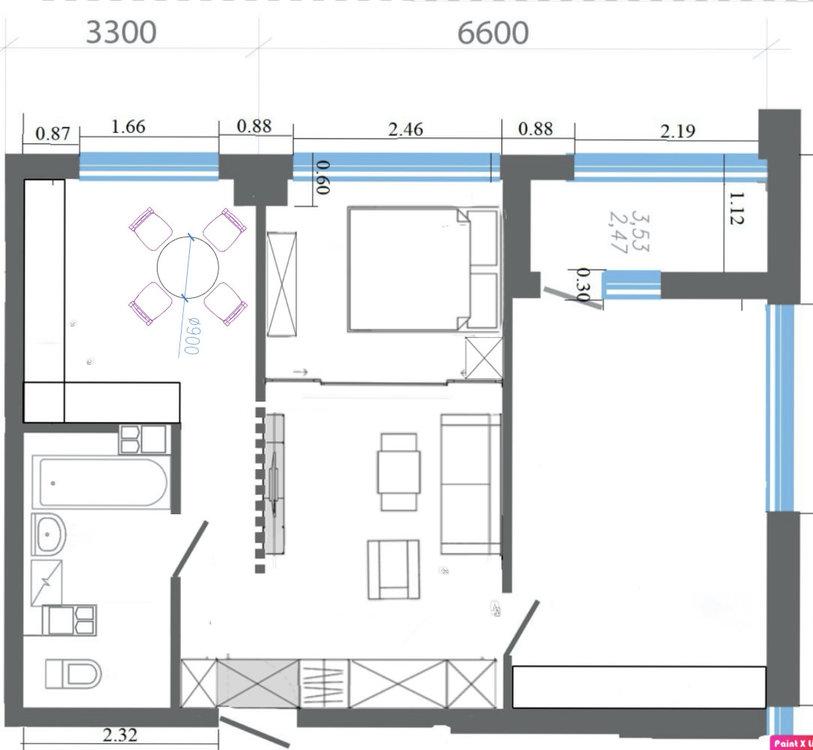 Помогите с планировкой 62 м.кв.-4