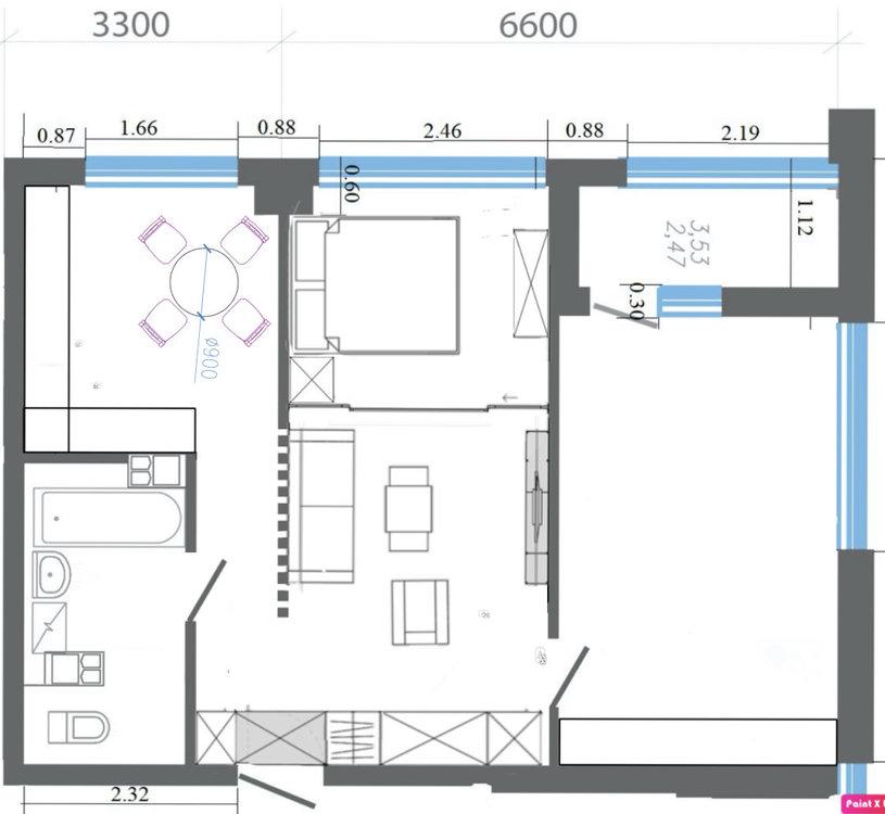 Помогите с планировкой 62 м.кв.-3
