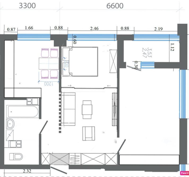 Помогите с планировкой 62 м.кв.-2