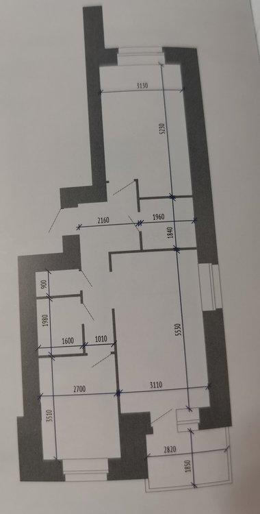 Из двушки 60 кв.м. в евротрешку