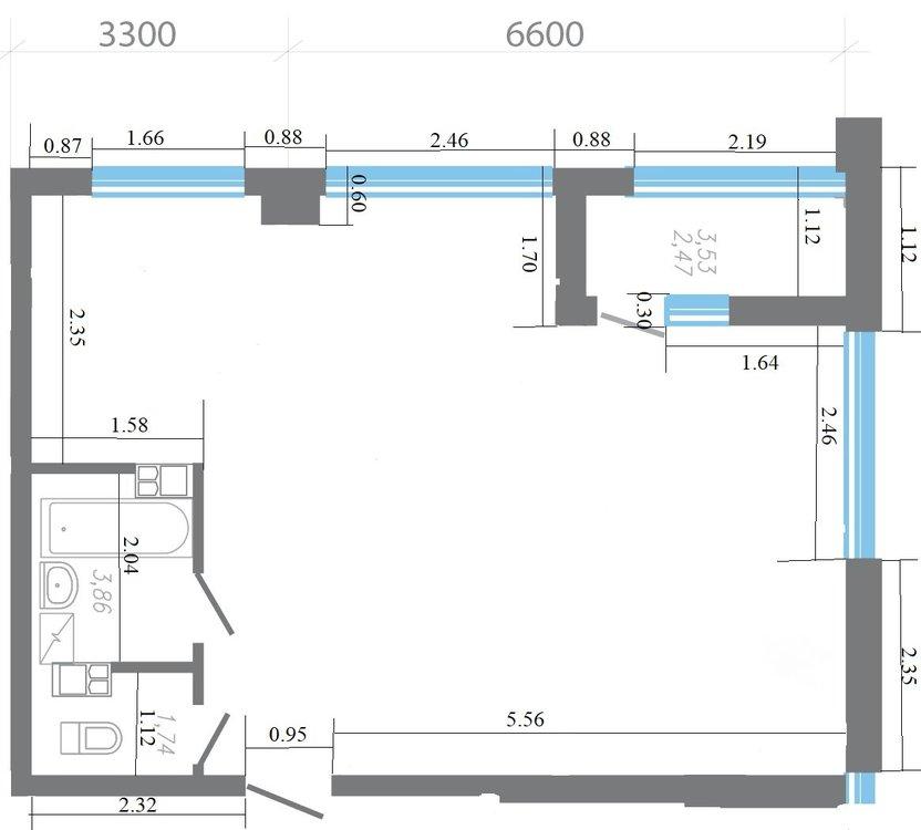 Помогите с планировкой 62 м.кв.