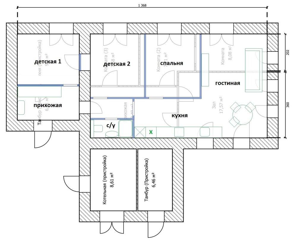 Какие есть варианты перепланировки дома