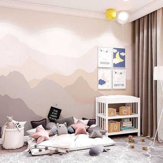 Покраска стен в детской-4