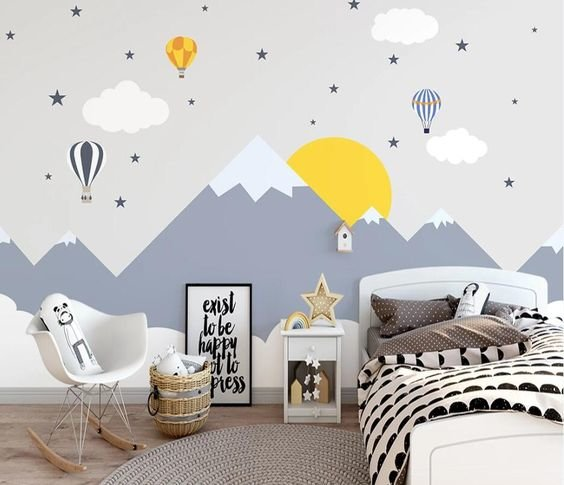 Покраска стен в детской-3