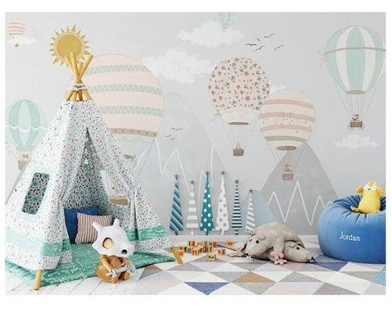 Покраска стен в детской-2