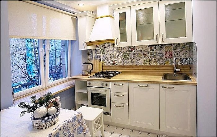 Что делать с окнами на кухне?