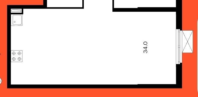 Кухня-гостиная 34м2. В ней Гардеробная или шкафы?