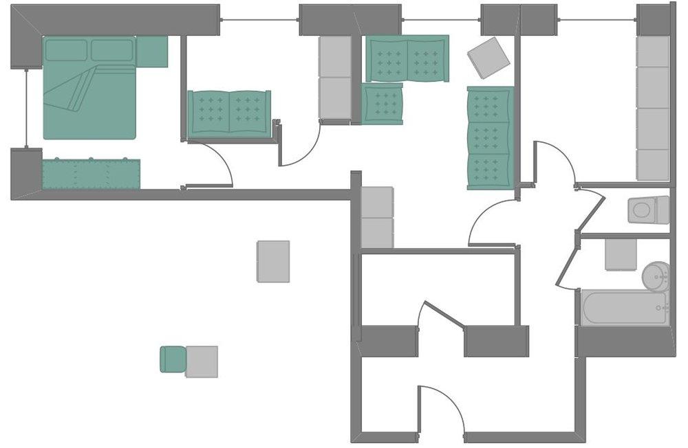 Сталинка две спальни и гостиная-4