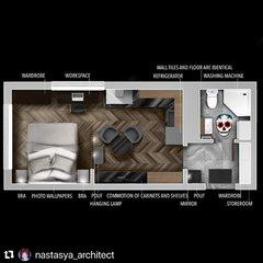 Дизайн интерьера в квартире 25 кв.м