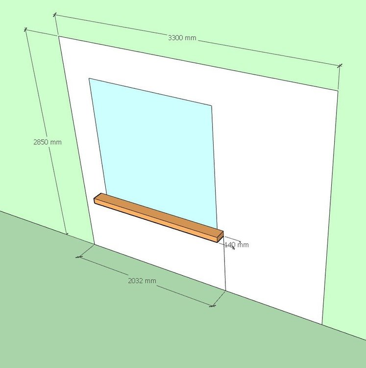 Карниз (шторы) с широким подоконником