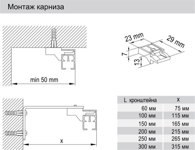 Карниз (шторы) с широким подоконником-2
