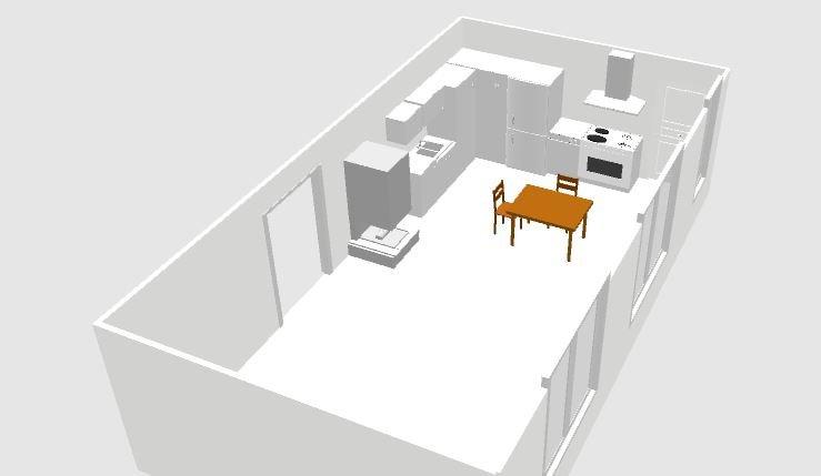Помогите с планировкой  открытой кухни-2