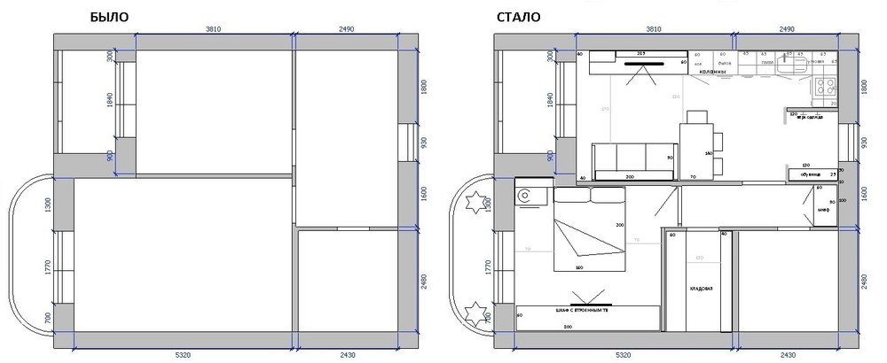 Друзья, помогите грамотно спланировать кухню- гостиную 6,03 на 4,730.
