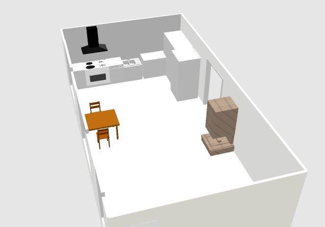 Помогите с планировкой  открытой кухни-3