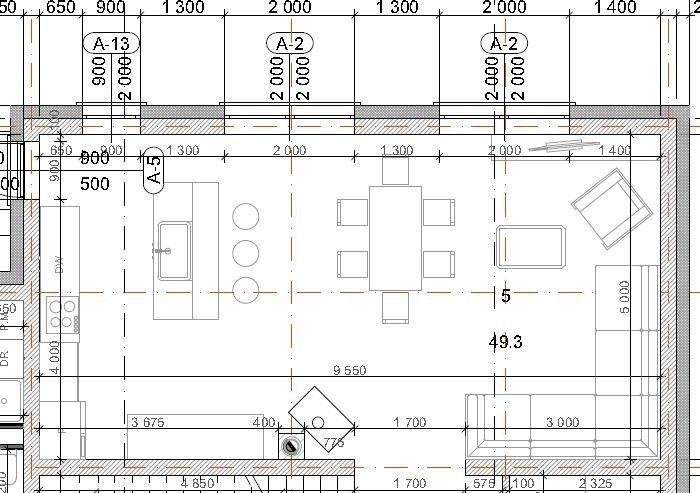 Помогите с планировкой  открытой кухни-5