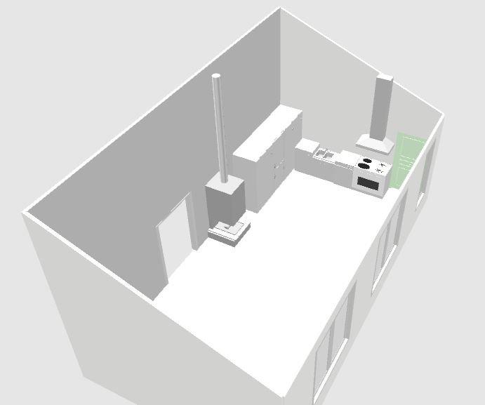 Помогите с планировкой  открытой кухни