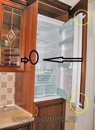 Встроенный холодильник правильность установки