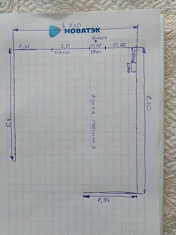 Друзья, помогите грамотно спланировать кухню-гостиную