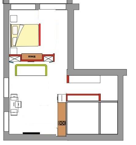Помогите с кухней-гостинной с балконом