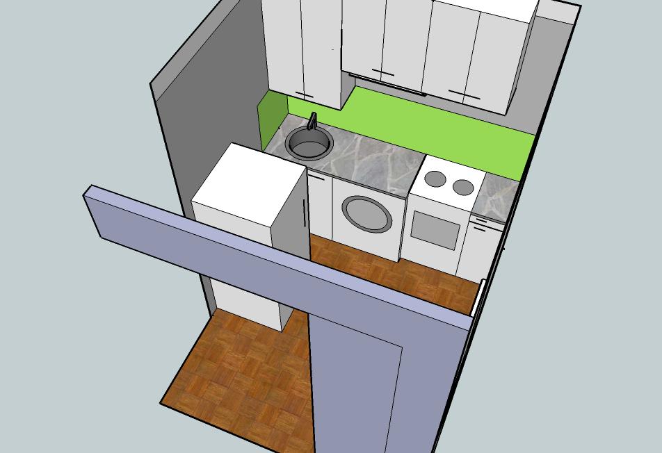 Кухня под потолок или нет?