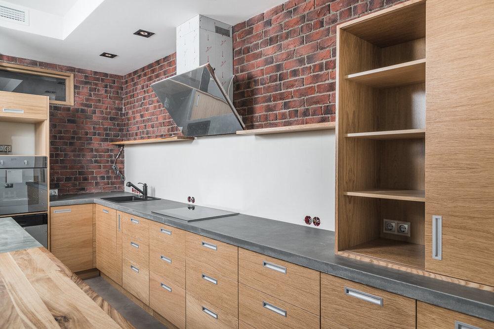 Столешница, фартук на кухню из бетона - новый тренд в мире интерьера-2