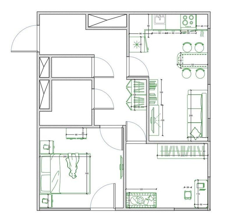 Планировка в двушке 51 кв.м.-2