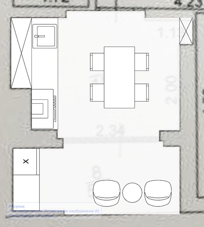 помогите с расстановкой мебели в столовой с панорамными окнами-2