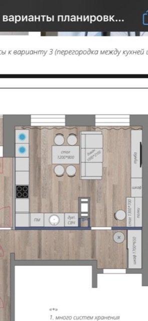 Помогите придумать планировку кухни гостинной