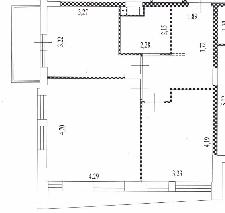 Планировка квартиры с 2-мя рабочими местами